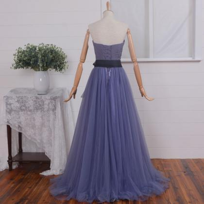 A-line Sweetheart Floor Length Tull..