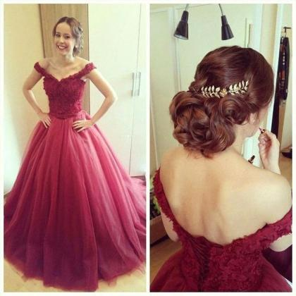 2016 Charming Prom Dress,Tulle Prom..