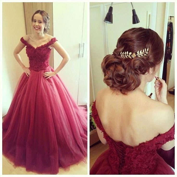 2016 Charming Prom Dress,Tulle Prom Dress,A-Line Prom Dress,Cap-Sleeves Prom Dress,Appliques Prom Dress,Lace-Up Prom Dress