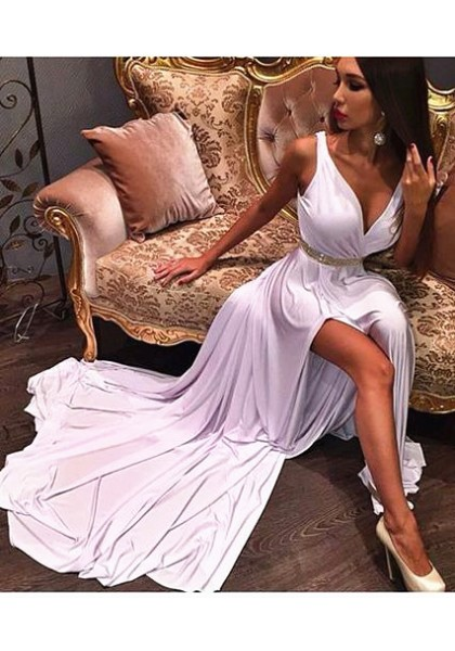 DoDodress-Gorgeous Evening Dress,Elastic silk-like stain Formal Dresses White Prom Dresses Formal Dresses Prom Dresses,Evening Dress-2017