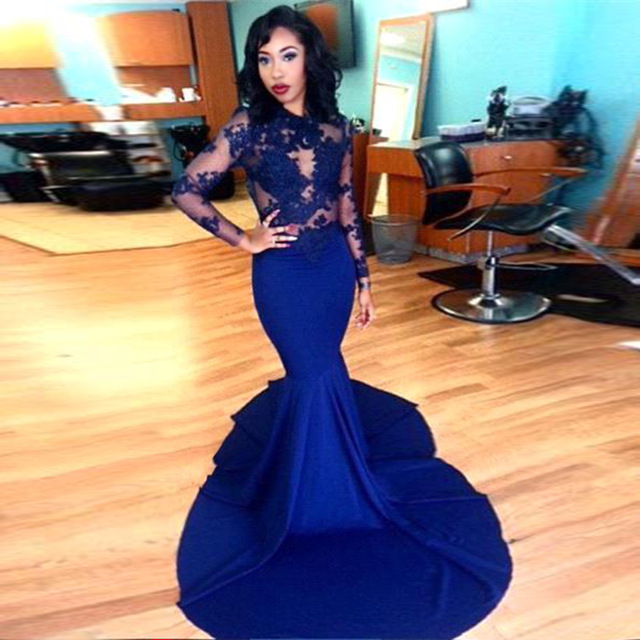 DoDodress-Long Sleeve Prom Dresses 2016 Gorgeous