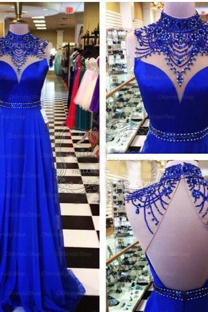 Royal Blue Prom Dresses Backless Prom Dress Unique Prom Dresses Sexy Prom Dresses 2017 Prom Dresses Popular Prom Dresses Dresses For Prom