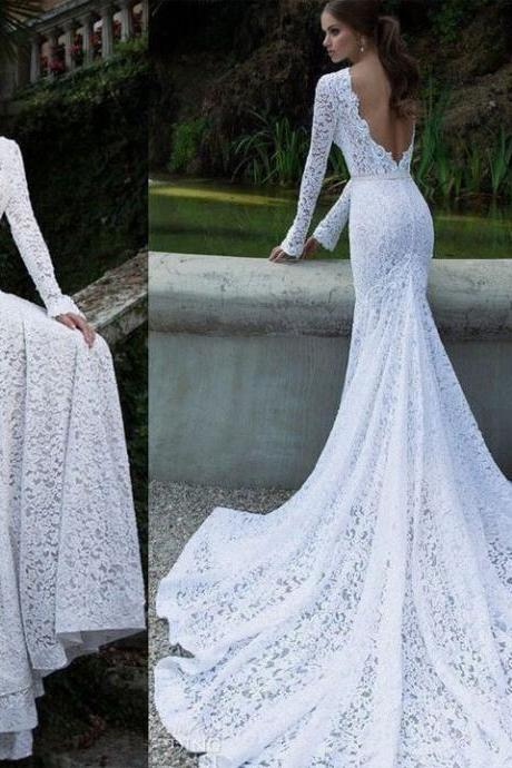 2016 Lace Backless Maxi Fishtail Asymmetric Dress