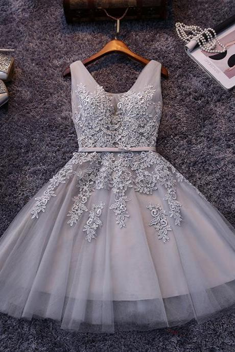 2016 Short Lace Prom Gowns Cocktail Dresses Tulle Skirt