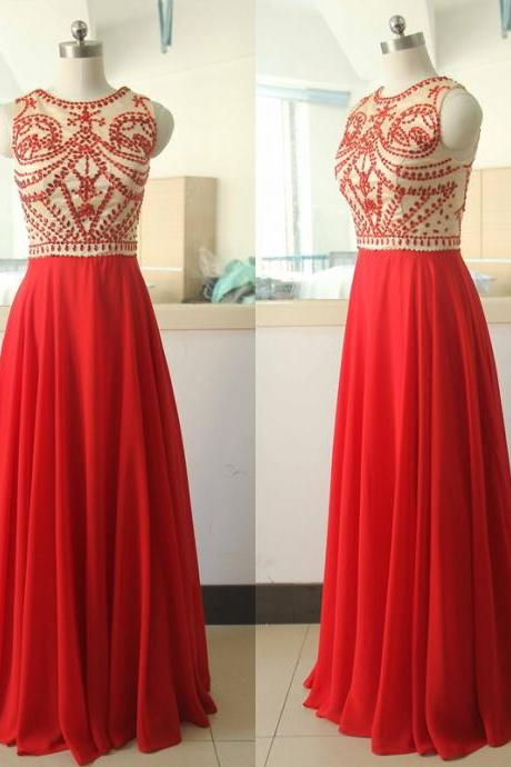2016 Beaded Long Prom Dresses Formal Wear Evening Party Dress