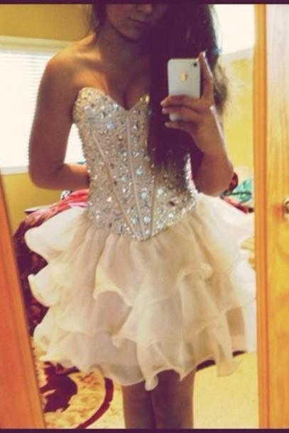2016 Charming Homecoming Dress,Lovely Homecoming Dresses,Mini Prom Dress