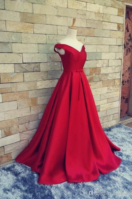 2016 satin prom dresses,red prom dresses,off shoulder evening dresses, evening dresses 2015,long prom dresses,dresses party evening,sexy evening gowns,formal dresses evening,celebrity red carpet dresses