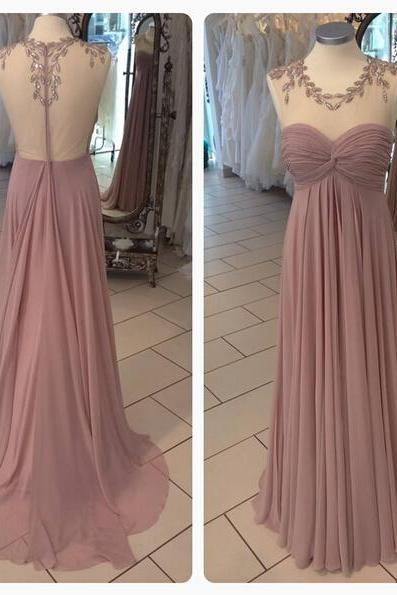 DoDodress-Prom Dress,Sexy Prom Dress,Sheer Neck Prom dresses,Backless Prom Dresses,Custom Made Prom Dress, Chiffon Prom Dresses, Sexy Prom Dress, Long Prom Dresses,2016 Prom Dresses,Prom Dresses,Evening Dress-2017