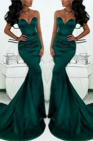 DoDodress-Deep Green Mermaid Cocktail Dress Prom Party Dresses Party Gown Lace Party Dress Prom Gown