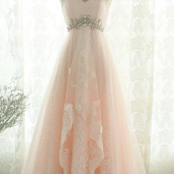 Charming Prom Dress, Elegant Tulle Appliques Prom Dresses