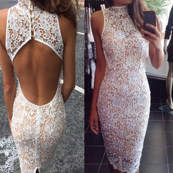 High Neck Mermaid backless Lace Prom Dress,Party Gown,Bridesmaid Dresses,Formal Dresses