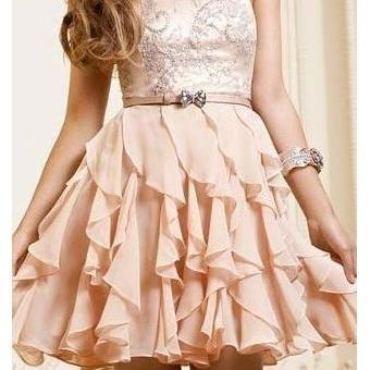 Charming A-line Chiffon Ruffles Sweetheart Short Prom Dress,Mini Dress ,Party Dresses,Homecoming Dresses