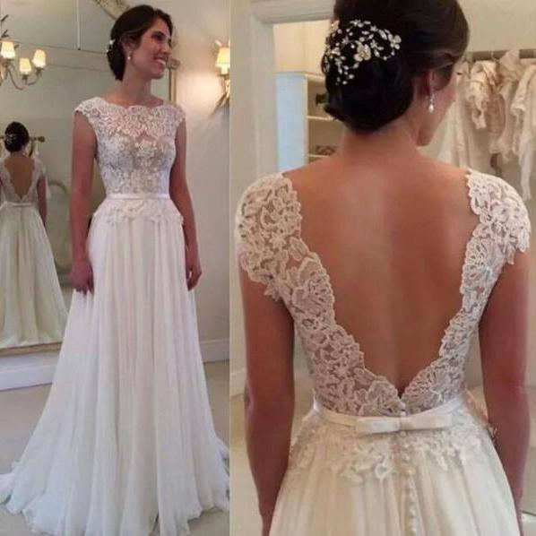 White Prom Dress,Floor-Length Prom Dress, Sexy Prom Dress,Backless Prom Dress,Sheer Prom Dress,Chiffon Prom Dress, Elegant Prom Dress,Fashion Prom Dress,Charming Prom Dress,